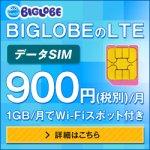 「BIGLOBE LTE・3G」エントリープランが登場しました